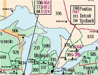 Index Of Stateareacodemaps - Michigan area codes