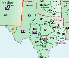 Index Of Stateareacodemaps - Area code map texas